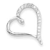 14k WG AA Diamond Heart Chain Slide XP3227AA-Lex and Lu