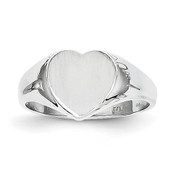 14k White Gold Signet Ring RS593 Size 5-Lex and Lu
