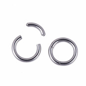 Lex and Lu Pair of Stainless Steel Seamless Segment Rings 18 Thru  6 Gauge