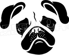 Pug Silhouette 3 Decal Sticker
