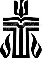 Tribal Catholic Cross 1 Religious Decal Sticker