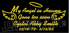 Catholic Angel In Loving Memory Of... 15 Memorial decal Sticker