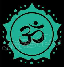 Copy of Om Hindu Religion Yoga Meditation 5 decal Sticker