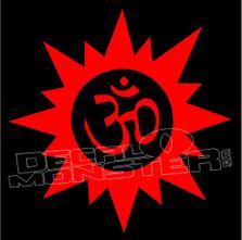 Om Hindu Religion Yoga Meditation 7 decal Sticker