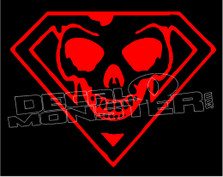 Superman Skull decal Sticker