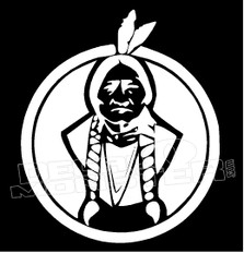 Native Chief Tribal 3 decal Sticker