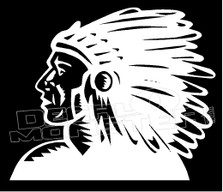 Native Chief Tribal 4 decal Sticker