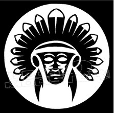 Native Chief Tribal 5 decal Sticker