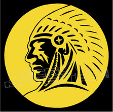 Native Chief Tribal 7 decal Sticker