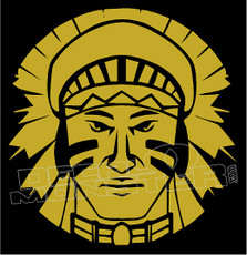 Native Warrior Tribal 8 decal Sticker