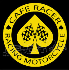 Cafe Racer 1 decal Sticker