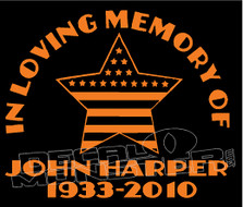 USA Stars & Stripes In Loving Memory Of... 1 Memorial decal Sticker