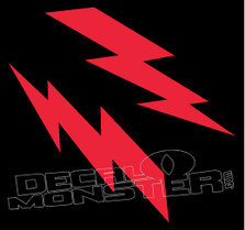 Mirrored Lightning Bolts 1 Decal Sticker