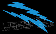 Mirrored Lightning Bolts 2 Decal Sticker