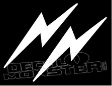 Mirrored Lightning Bolts 3 Decal Sticker