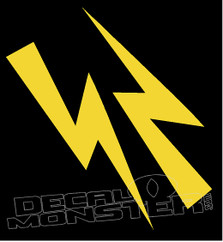 Mirrored Lightning Bolts 4 Decal Sticker