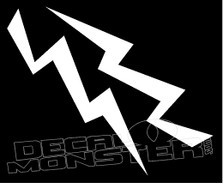 Mirrored Lightning Bolts 5 Decal Sticker