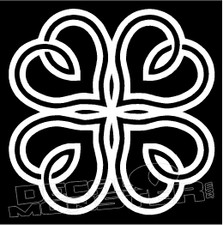Celtic Clover 3 Decal Sticker
