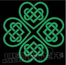 Celtic Clover 4 Decal Sticker