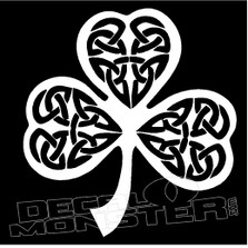 Celtic Clover 6 Decal Sticker