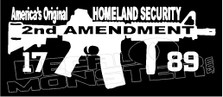 2nd Amendment Americas Homeland Security Decal Sticker