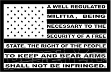 2nd Amendment Right To Bear Arms Flag Decal Sticker