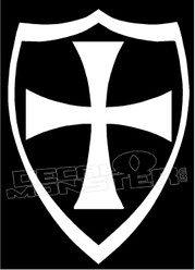 Maltese Iron Cross & Shield Decal Sticker