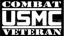 Combat USMC Veteran Skull Decal Sticker