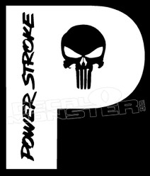 Ford Powerstroke Punisher 3 Decal Sticker