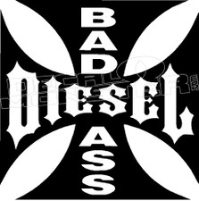 Bad Ass Diesel 1 Decal Sticker