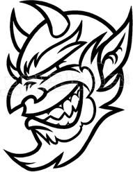 Devil Skull 11 Decal Sticker