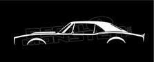 Chevrolet Camaro 1968 Classic Muscle Car Silhouette Decal Sticker
