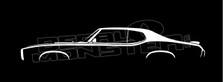 1969 Pontiac GTO Judge, Classic Decal Sticker