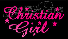 Catholic Christian Girl Wording 11 Decal Sticker