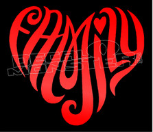 Family Heart Wording 1 Decal Sticker