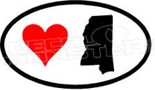 I Love Mississippi 1 Decal Sticker