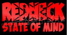 Redneck State Of Mind Decal Sticker