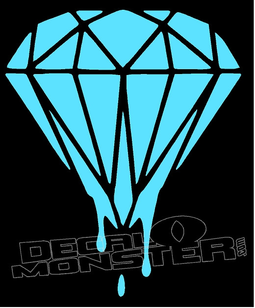 Diamond Supply Co Drip Decal Sticker Decalmonster Com