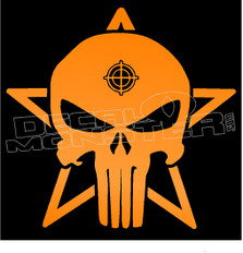 Punisher Skull Star Crosshairs 1 Decal Sticker