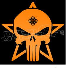 Punisher Skull Star Crosshairs 1 Decal Sticker