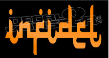 Infidel Arabic Writing Decal Sticker