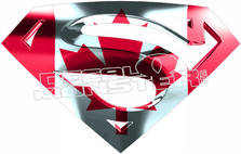Super Canada flag decal