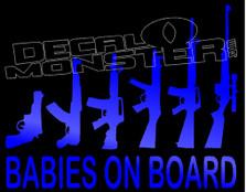 Babies On Board R Guns  Decal Sticker