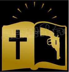 Bible and Guns Decal Sticker