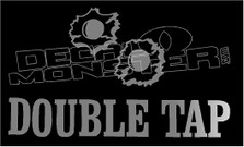 Double Tap Bullet Holes Funny 1 Decal Sticker