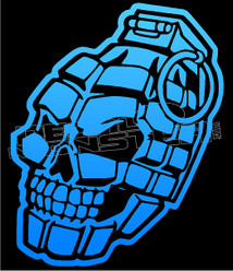 Laughing Skull Grenade 1 Decal Sticker