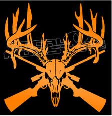 Moose Skull Hunter Hunting 1 Decal Sticker