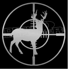 Crosshair Deer Hunting 1 Decal Sticker
