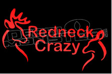 Redneck Crazy Buck and Doe 1 Decal Sticker