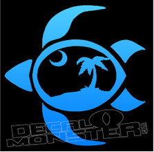 Turtle Silhouette 12 Decal Sticker